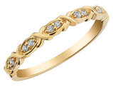 Twisted Diamond Ring in 10K Yellow Gold