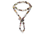 Multicolor Freshwater Cultured Pearl 8-13mm Endless Necklace