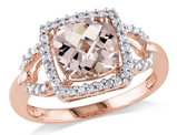 Morganite and Diamond 2.20 Carat (ctw) Ring in 10K Rose Gold