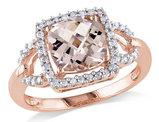 Morganite and Diamond 2.20 Carat (ctw) Ring in 10K Rose Gold