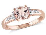 Morganite and Diamond 1.0 Carat (ctw) Ring in 10K Rose Gold
