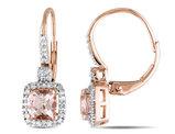 Morganite and Diamond Earrings 1.30 Carat (ctw) in 10K Rose Gold