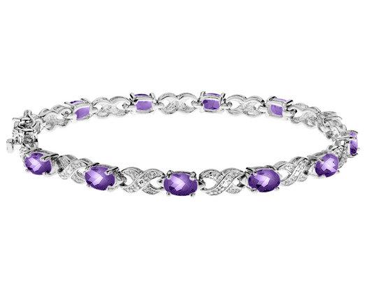 Amethyst Bracelet 4.00 Carat (ctw) in Sterling Silver