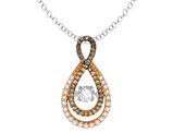Glittering Stars Dancing Diamond Infinity Pendant 2/5 (ctw) 14K Rose Gold with Chain