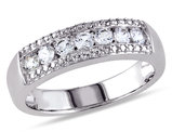 Created White Sapphire 5/8 Carat (ctw) Anniversary Band In Sterling Silver