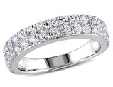 1.50 Carat (ctw) Lab Created White Sapphire Anniversary Ring Band In Sterling Silver