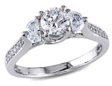 Diamond Engagement Ring 1.0 Carat (ctw Color G-H, Clarity I1-I2) in 14K White Gold