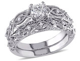 3/4 Carat (ctw H-I, I2-I3) Diamond Engagement Ring & Wedding Band Set in 10K White Gold