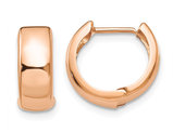 14K Rose Pink Gold Hinged Hoop Earrings