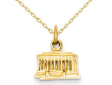 Lincoln Memorial Charm Pendant Necklace in 14K Yellow Gold