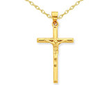 Crucifix Pendant Necklace 14K Yellow Gold with Chain