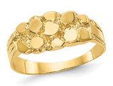 Ladies 14K Yellow Gold Nugget Ring