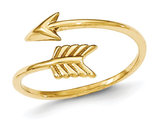 Ladies 14K Yellow Gold Arrow Ring