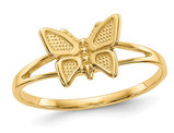 Ladies 14K Yellow Gold Children's Butterfly Ring