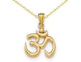 OM Symbol Pendant Necklace in 14K Yellow Gold
