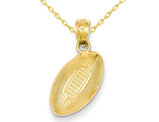 Classic Football Charm Pendant Necklace in 14K Yellow Gold