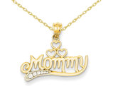 Mommy Pendant Necklace in 14K Yellow Gold with Chain