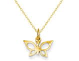Butterfly Charm in 14K Yellow Gold with Chain