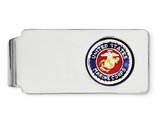 U.S. Marine Corp Money Clip in Sterling Silver with Rhodium Plating