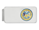 US Army Logo Money Clip in Sterling Silver with Rhodium Plating