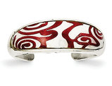 Sterling Silver Enameled Pattern Toe Ring