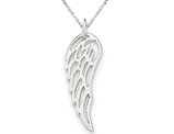 Sterling Silver Angel Wing Pendant Necklace with Chain