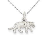 Panther Charm Pendant Necklace from Sterling Silver with Chain
