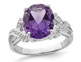 Ladies Amethyst Ring 4.00 Carat (ctw) in Sterling Silver