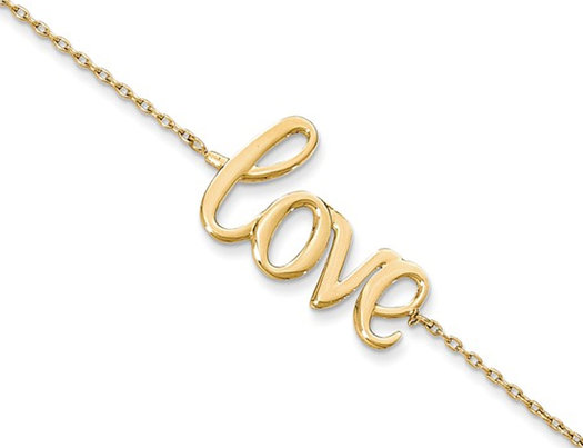 14K Yellow Gold LOVE Bracelet withLobster Clasp