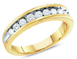 Ladies 10K Yellow Gold 1/4 Carat (ctw G-H, I3) Diamond Wedding Anniversary Band