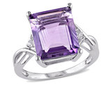 5.80 Carat (ctw) Amethyst & White Topaz Ring in Sterling Silver
