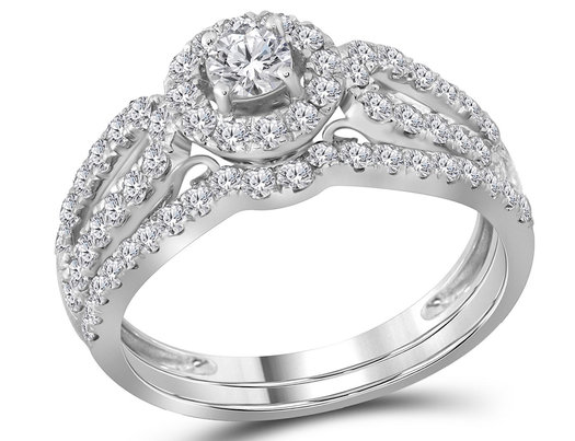 Diamond Engagement Ring Wedding Set 1 00 Carat Color G H I1 Split