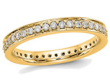 1/2 Carat (ctw Color H-I, I1-I2) Ladies 14K Yellow Gold Diamond Eternity Wedding Band