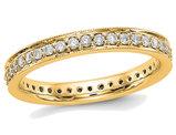 1/2 Carat (ctw Color H-I, I1-I2) Ladies 14K Yellow Gold Diamond Eternity Wedding Band