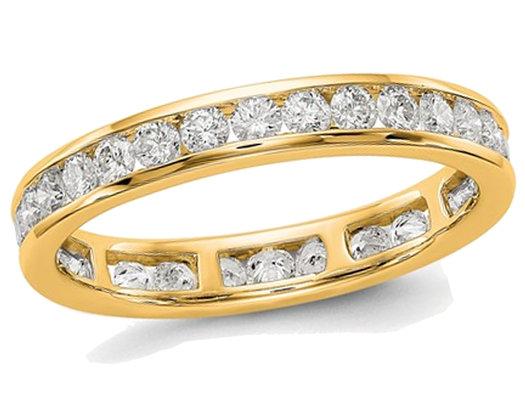 1.00 Carat (ctw Color H-I, SI2-I1) Ladies Diamond Eternity Wedding Band in 14K Yellow Gold