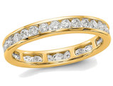 1.00 Carat (ctw Color H-I, I1-I2) Ladies Diamond Eternity Wedding Band in 14K Yellow Gold