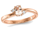 14K Rose Pink Gold 2/5 Carat (ctw) Morganite Ring