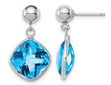 10.00 Carat (ctw) Blue Topaz Dangle Earrings in Sterling Silver