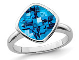 4.50 Carat (ctw) Blue Topaz Ring in Sterling Silver
