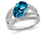3.00 Carat (ctw) London Blue Topaz Ring in Sterling Silver