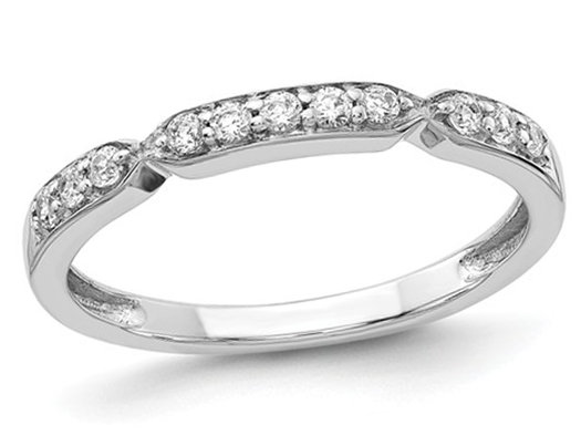 Ladies 14K White Gold 1/4 Carat (ctw Color H-I, I2-I3) Diamond Wedding Band