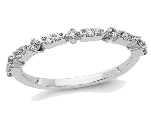 Ladies 14K White Gold 1/5 Carat (ctw Color H-I, I2-I3) Diamond Wedding Band