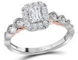 7/10 Carat (ctw G-H, SI2-I1) Emerald Cut Diamond Engagement Ring in 14K White Gold