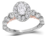 7/10 Carat (ctw G-H, SI2-I1) Diamond Engagement Ring in 14K White Gold