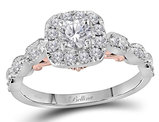 7/10 Carat (ctw G-H, I1) Diamond Engagement Ring in 14K White Gold