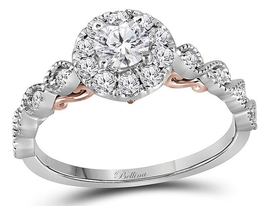 7/10 Carat (ctw G-H, I1) Diamond Engagement Ring in 14K White Gold