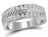 Men's Diamond Anniversary Wedding Band 1/4 Carat (ctw G-H, I1-I2) in 14K White Gold