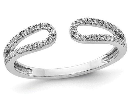1/5 Carat (ctw Color H-I, I2-I3) Diamond Fancy Ring in 14K White Gold