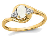 14K Yellow Gold Opal 3/10 Carat (ctw) Ring