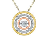 1/6 Carat (ctw I-J, I2) Diamond Infinity Pendant Necklace in 10K White , Yellow and Pink Gold with Chain
